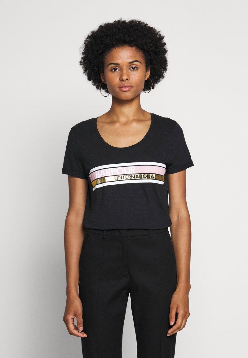 Barbour International - LIGHTNING TEE - Print T-shirt - black