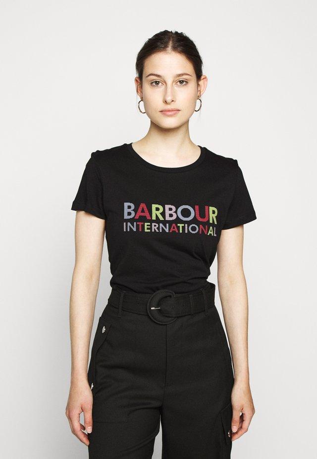 INTERCEPTOR TEE - T-shirt print - black