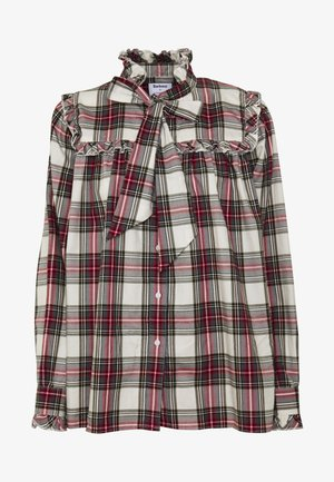 BELLA SHIRT - Button-down blouse - red/olive