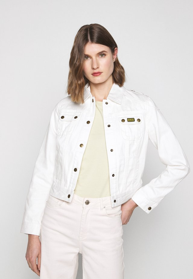 DURNESS CASUAL - Denim jacket - white