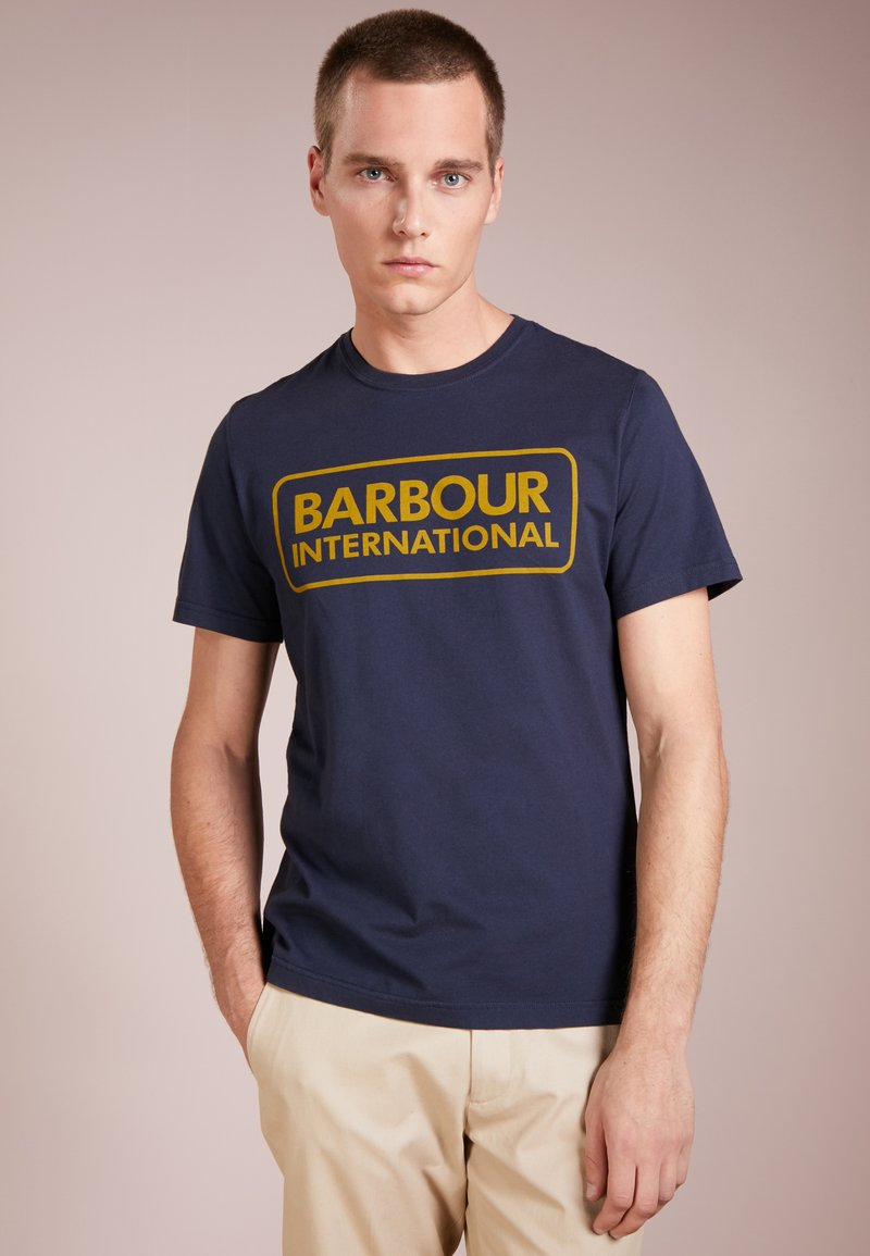 Barbour International - ESSENTIAL LARGE LOGO TEE - T-Shirt print - navy