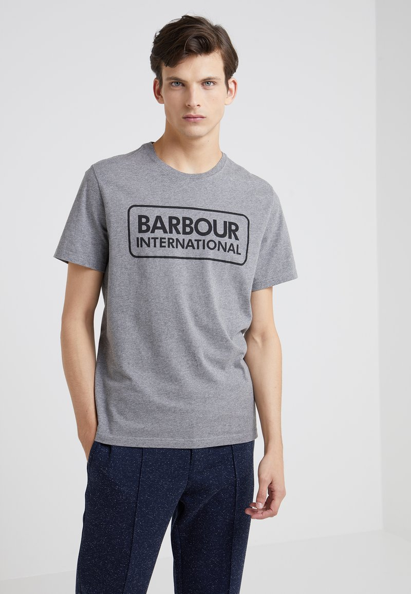 Barbour International - ESSENTIAL LARGE LOGO TEE - T-Shirt print - anthracite