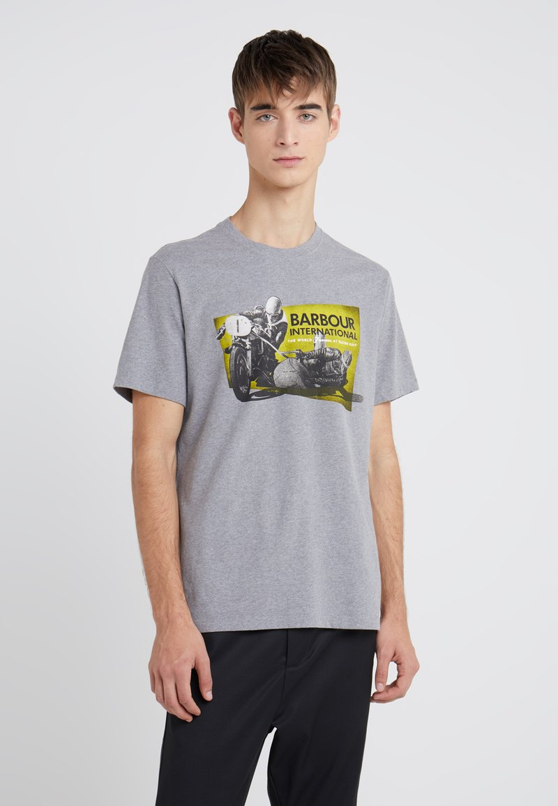 Barbour International - ARCHIVE TEE - Print T-shirt - anthracite marl