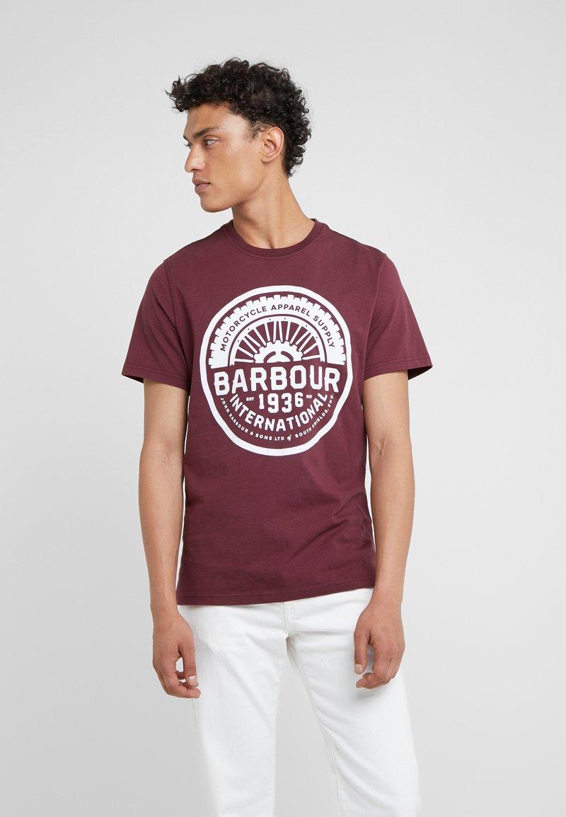 Barbour International - VINTAGE TEE - T-Shirt print - merlot