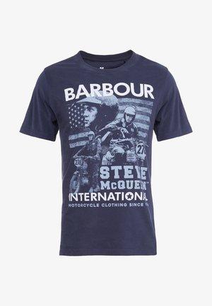 COLLAGE TEE - Print T-shirt - navy
