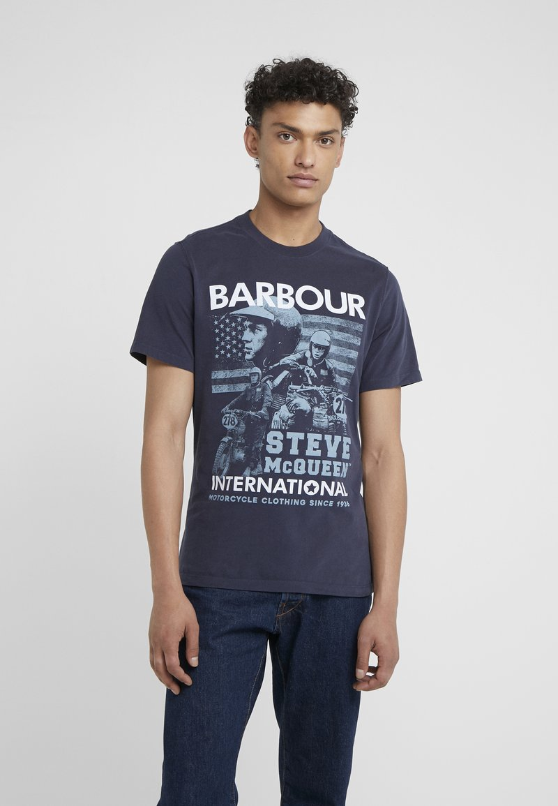 Barbour International - COLLAGE TEE - T-Shirt print - navy