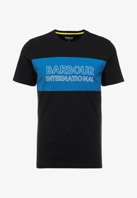 Barbour International - PANEL LOGO TEE - Triko s potiskem - black - 3