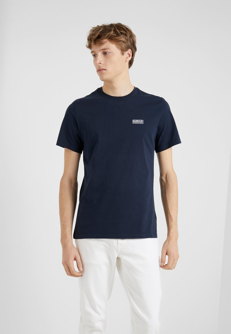 Barbour International - ESSENTIAL SMALL LOGO TEE - Jednoduché triko - navy