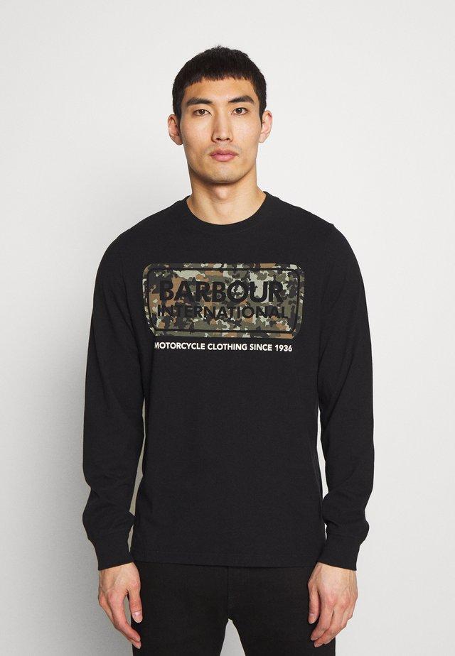 CAMO LOGO TEE - Langarmshirt - black