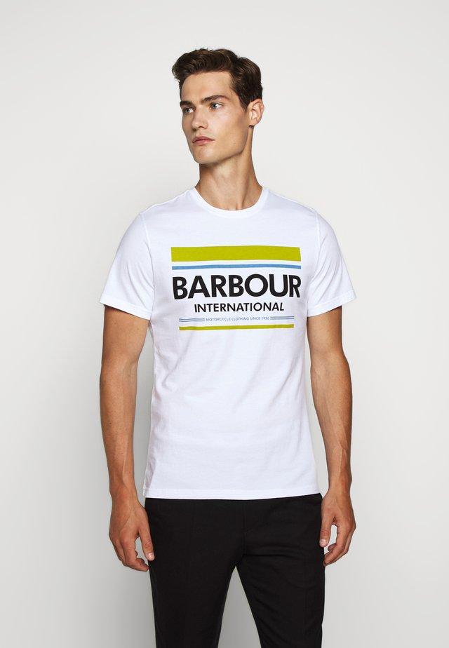 CONTROL TEE - T-Shirt print - white
