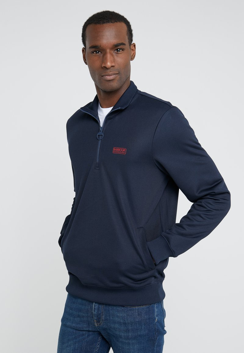Barbour International - HALF ZIP TRACK - Sweatshirt - navy