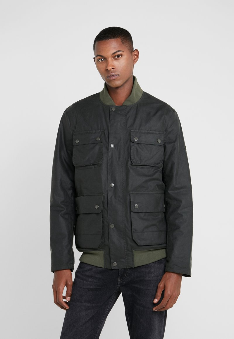 Barbour International - EDHILL WAX - Bomberjacke - olive