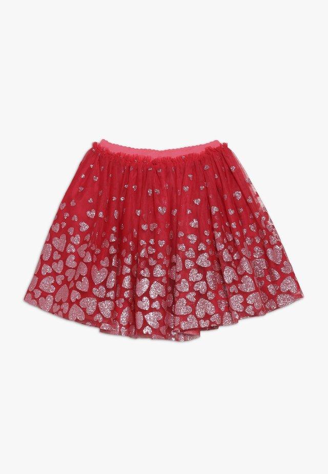Áčková sukně - cranberries