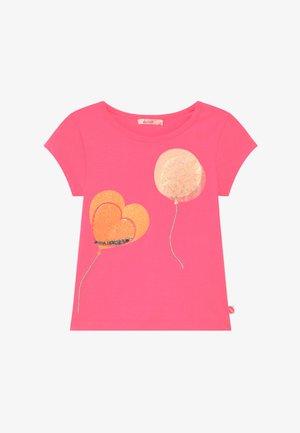 Print T-shirt - fuschia