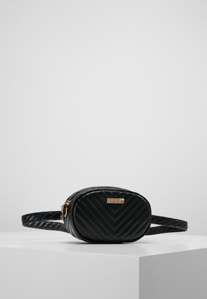 LABEL BUM BAG - Saszetka nerka - black