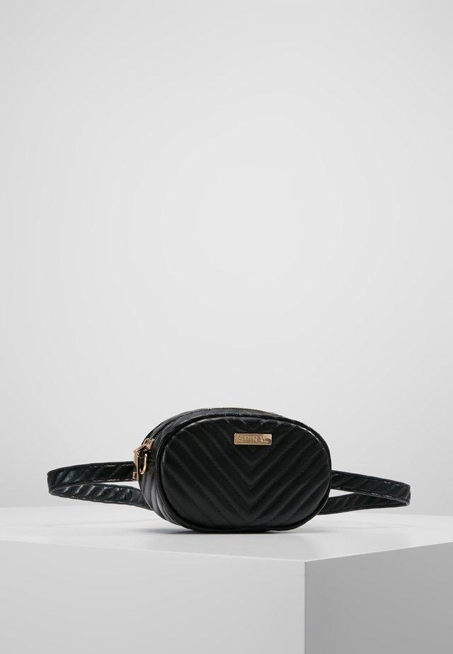 LABEL BUM BAG - Bæltetasker - black