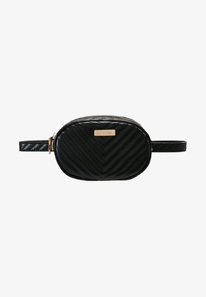LABEL BUM BAG - Ledvinka - black