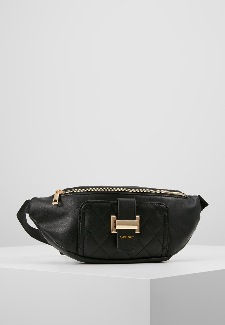 Spiral Bags - LABEL BUM BAG - Ledvinka - black