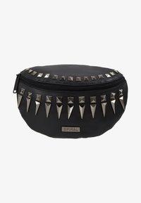 Spiral Bags - LABEL BUM BAG - Ledvinka - black/silver - 5
