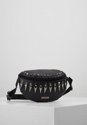 LABEL BUM BAG - Bum bag - black/silver
