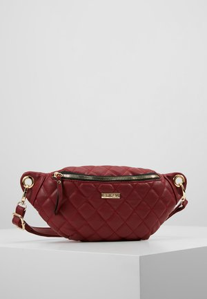 LABEL BUM BAG - Gürteltasche - burgundy
