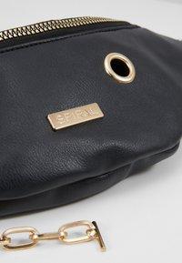 Spiral Bags - LABEL BUM BAG - Ledvinka - black - 6