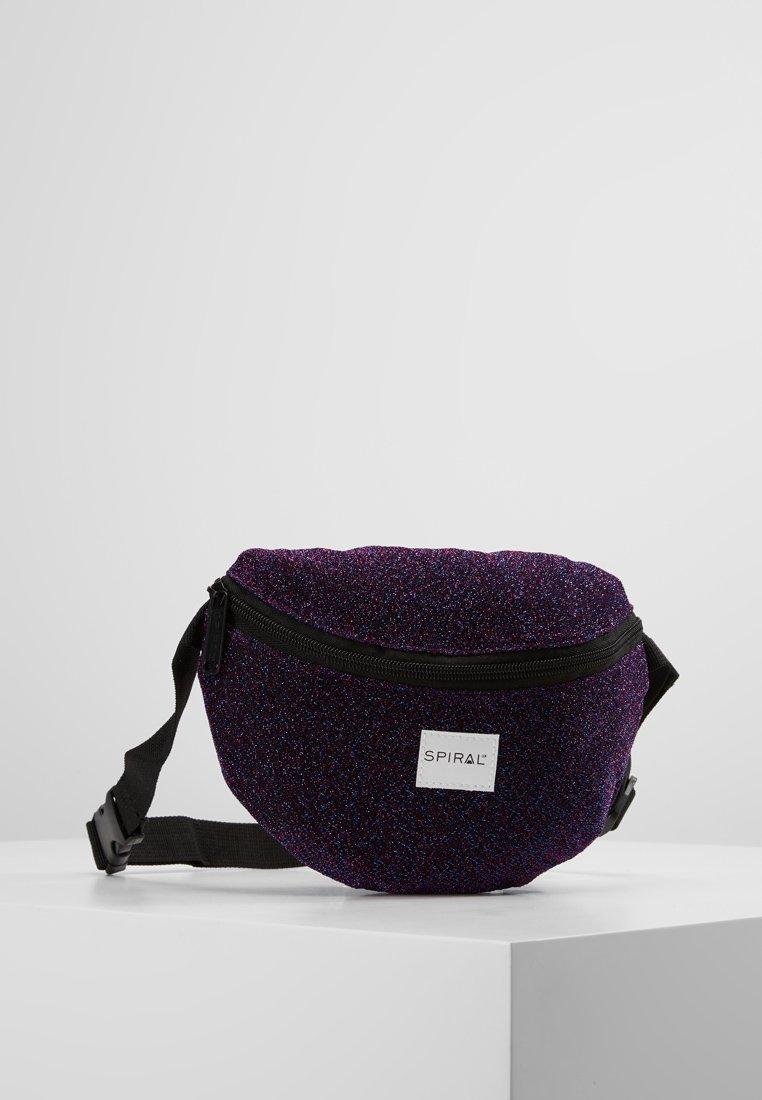 Spiral Bags - PLATINUM BUM BAG - Ledvinka - violet