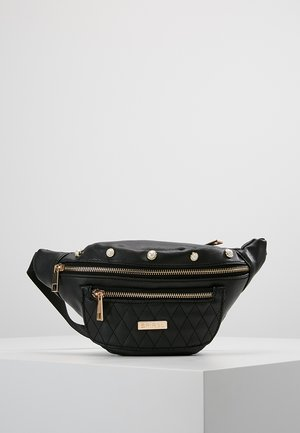 BLACK LABEL BUM BAG - Ledvinka - quilted pearl/black
