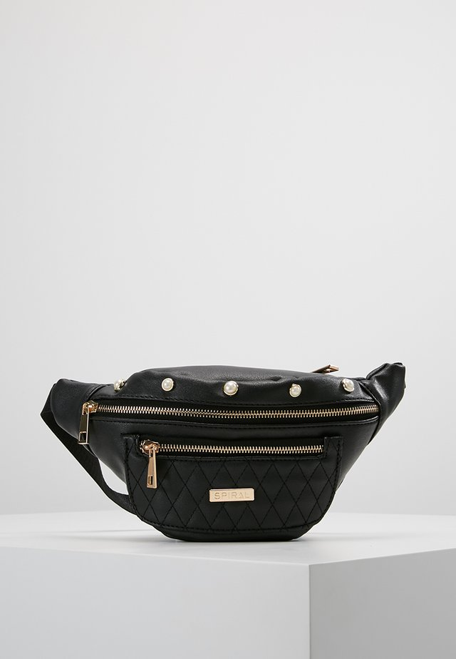 BLACK LABEL BUM BAG - Saszetka nerka - quilted pearl/black