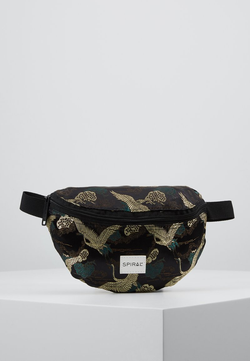 Spiral Bags - BUM BAG - Rumpetaske - paradise birds /black