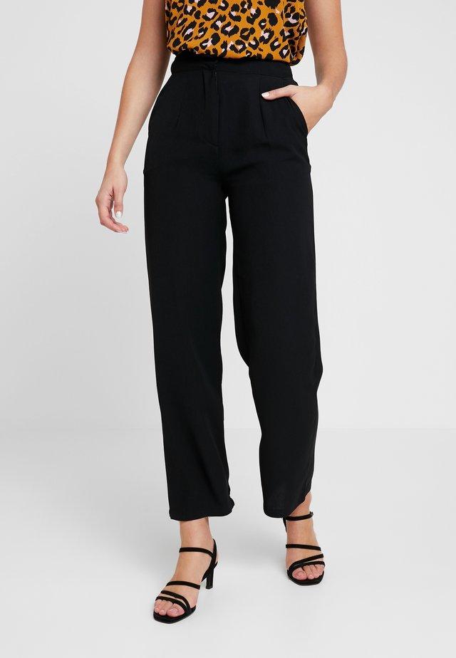 ELSA - Spodnie materiałowe - black