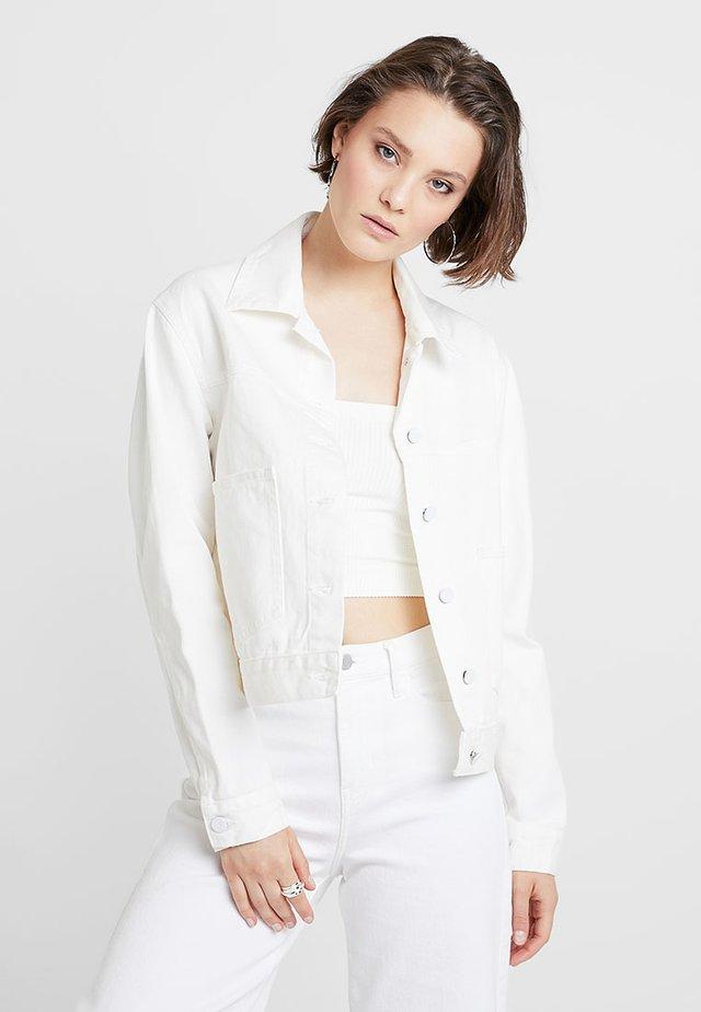 TAMPA - Kurtka jeansowa - white