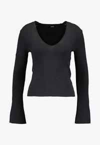 Bik Bok - MARIO - Stickad tröja - black - 5