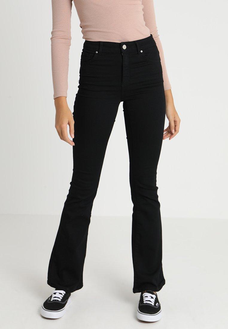Bik Bok - NEVER - Flared Jeans - black