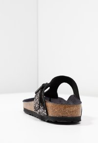 Birkenstock - GIZEH - T-bar sandals - metallic stones black - 5