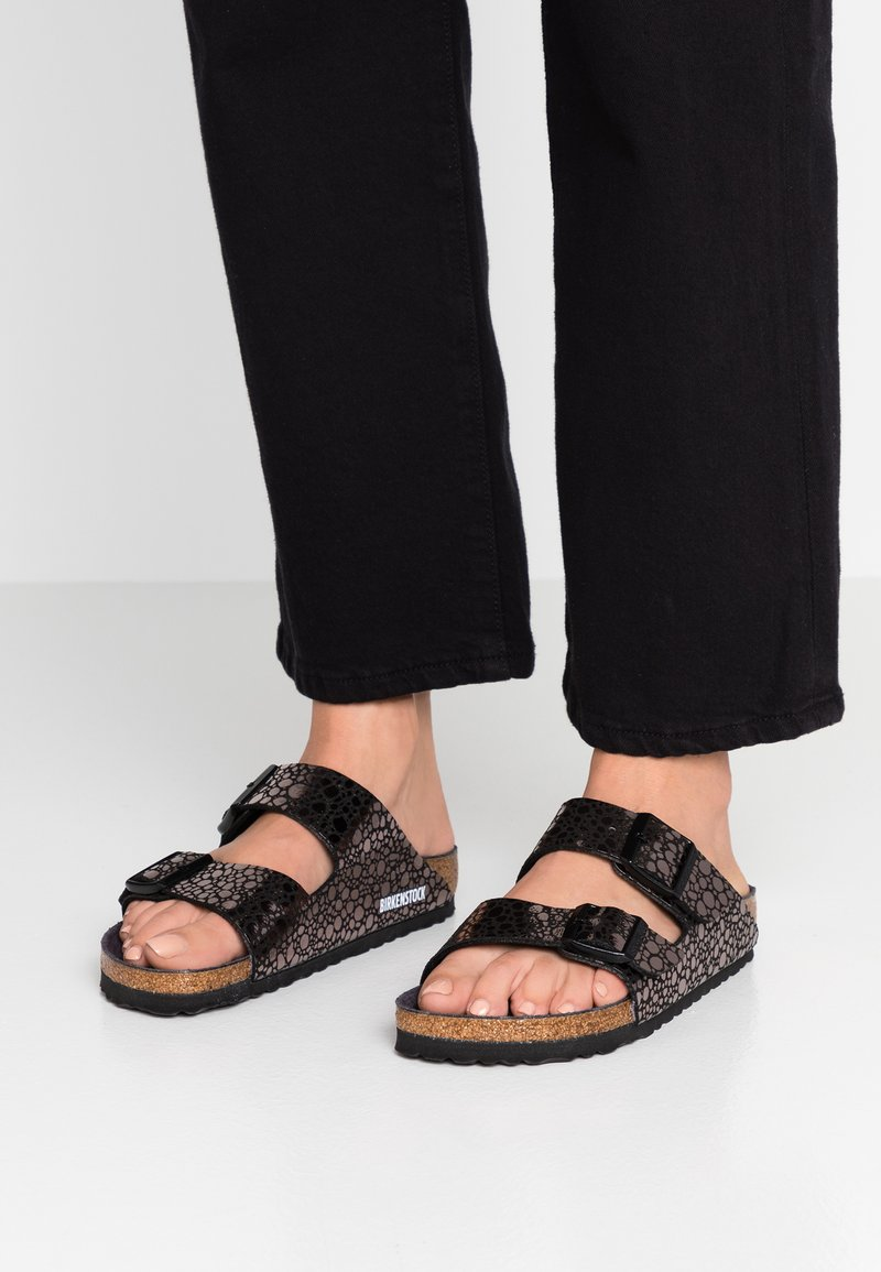 Birkenstock - ARIZONA - Hjemmesko - metallic/black