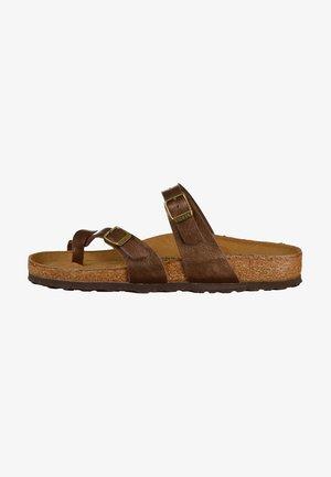 MAYARI - T-bar sandals - brown
