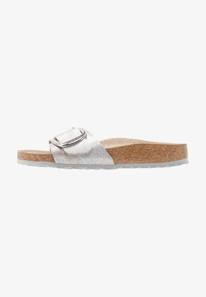 MADRID BIG BUCKLE - Slippers - washed metallic blue silver
