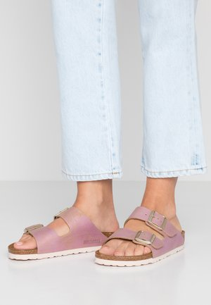 ARIZONA - Slippers - washed metallic pink