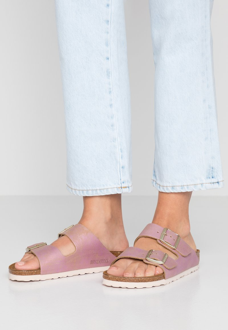 Birkenstock - ARIZONA - Hjemmesko - washed metallic pink