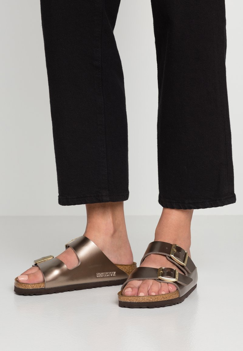 Birkenstock - ARIZONA - Slippers - electric metallic taupe