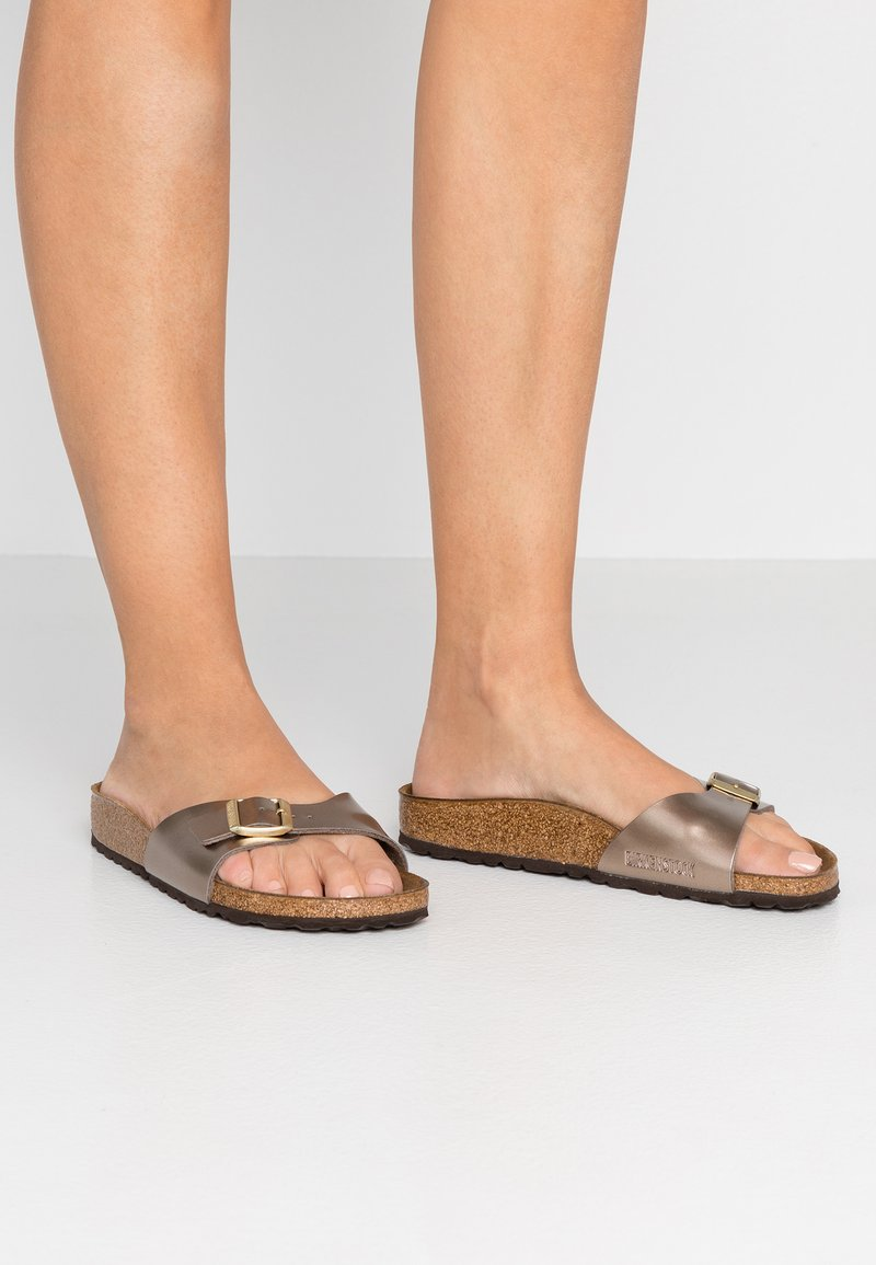 Birkenstock - MADRID - Slippers - electric metallic taupe