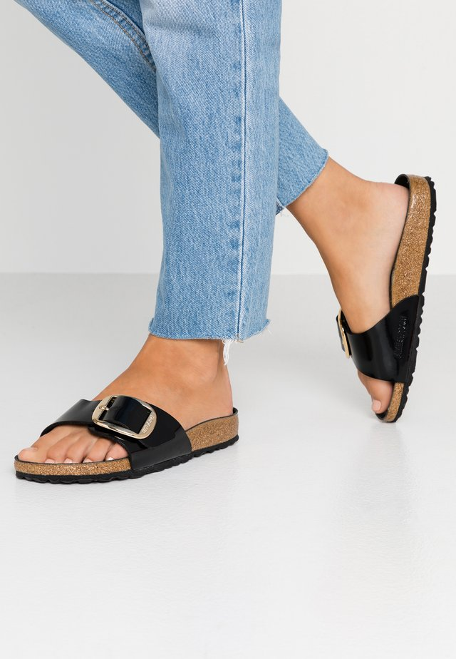 MADRID BIG BUCKLE - Slippers - black