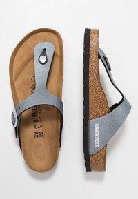 Birkenstock - GIZEH - T-bar sandals - icy metallic anthracite - 2