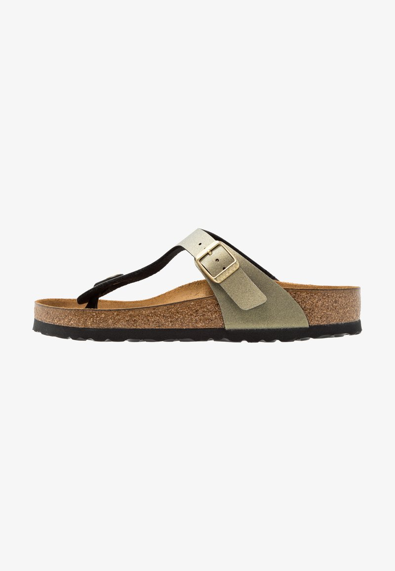 Birkenstock - GIZEH - T-bar sandals - icy metallic stone gold
