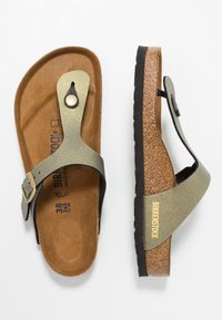 Birkenstock - GIZEH - T-bar sandals - icy metallic stone gold - 1