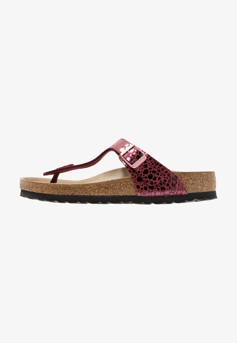 Birkenstock - GIZEH - T-bar sandals - metallic port