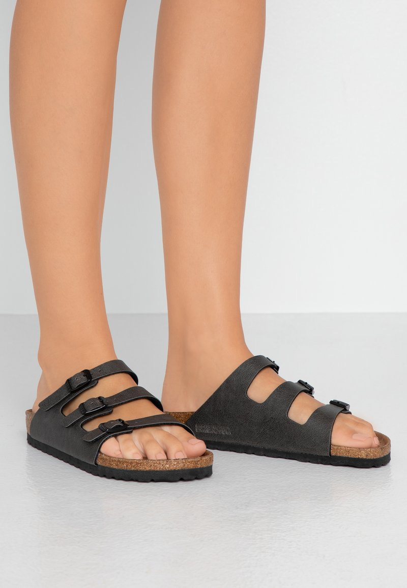 Birkenstock - FLORIDA - Slippers - pull up anthracite