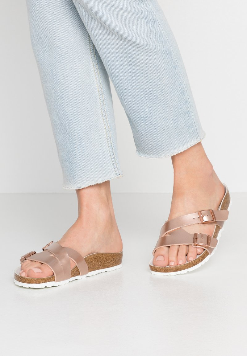 Birkenstock - YAO BALANCE  - Slippers - electric metal copper