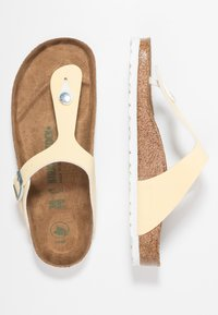 Birkenstock - GIZEH VEGAN - T-bar sandals - brushed vanilla - 3